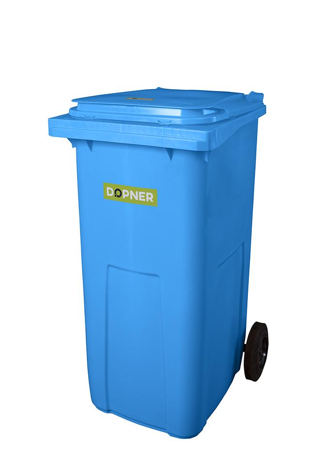 Plastová popelnice DOPNER 240 l - modrá