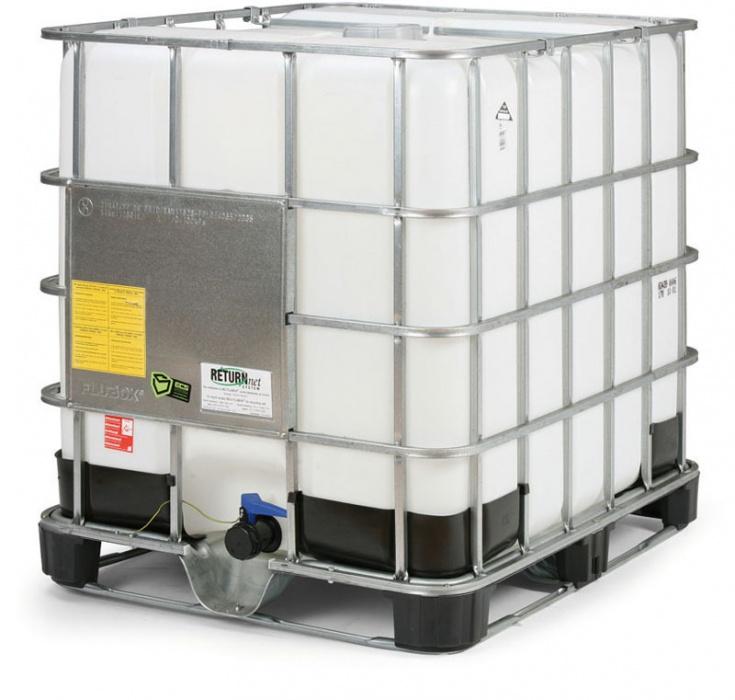 IBC nádrž 1000 l na plastové paletě