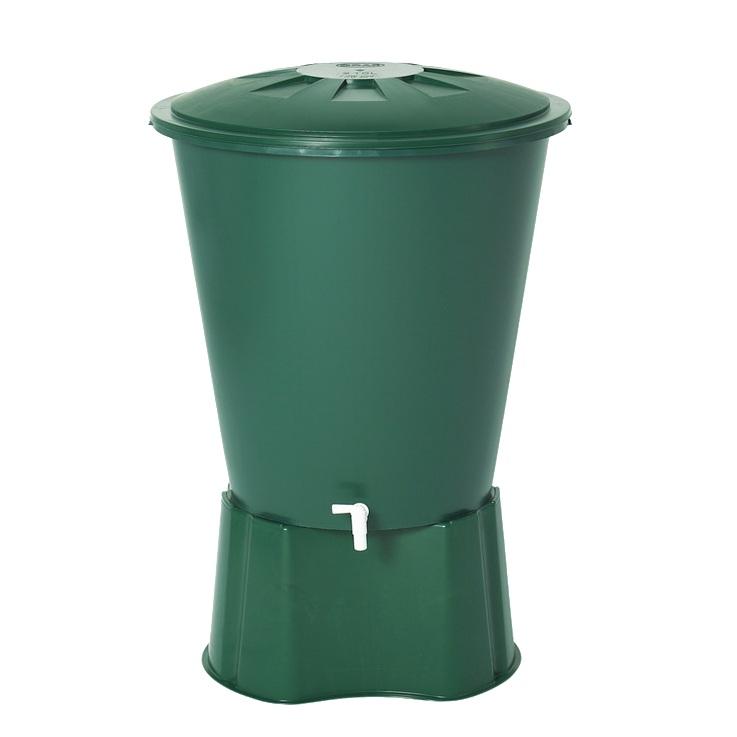 Plastová nádrž na dešťovou vodu Roll 210 zelená