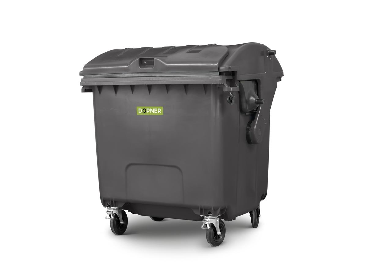 Kontejner 1100 l plastový DOPNER, černý