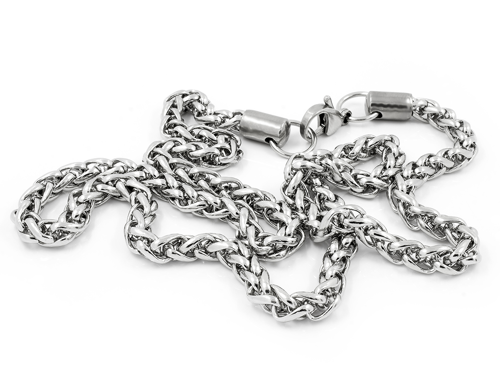Atraktivní pletený řetízek  - Chirurgická ocel