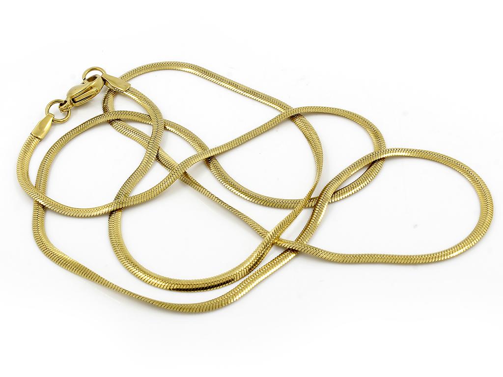 Elegantní řetízek bužírka chirurgická ocel ve zlatém provedení