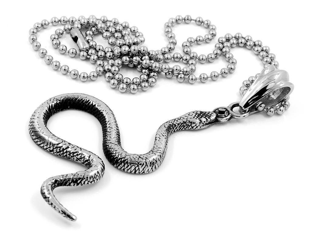 Přívěsek Had - Chirurgická ocel