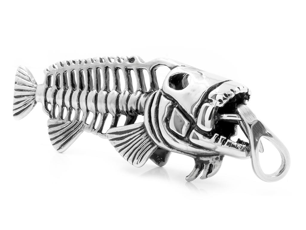 Přívěsek Piranha nejen pro rybáře - Chirurgická ocel