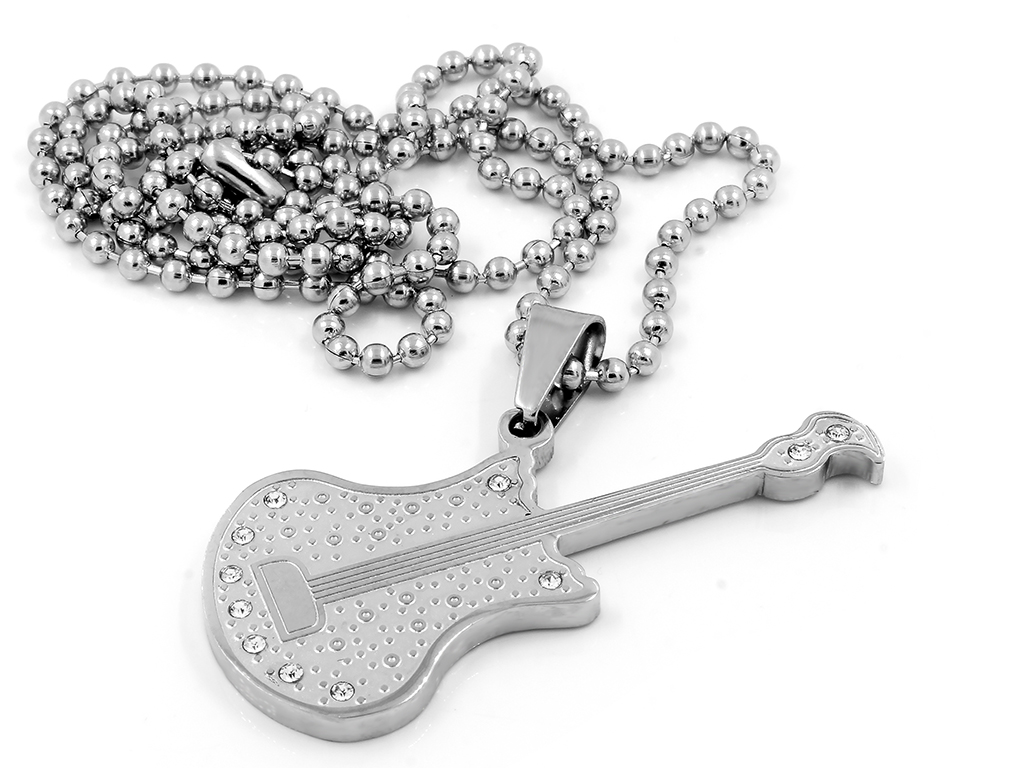 Přívěsek kytara - Chirurgická ocel