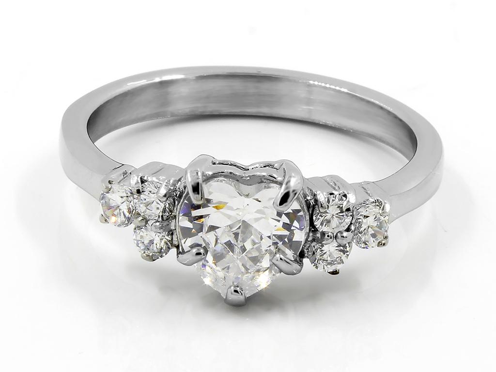 Dámský jemný prsten chirurgická ocel se zirkony