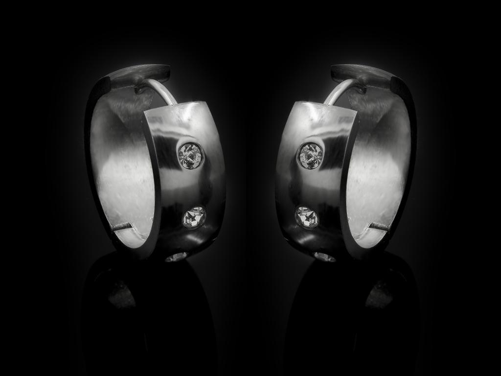 Náušnice kruhy se zirkony - Chirurgická ocel + Doprava ZDARMA