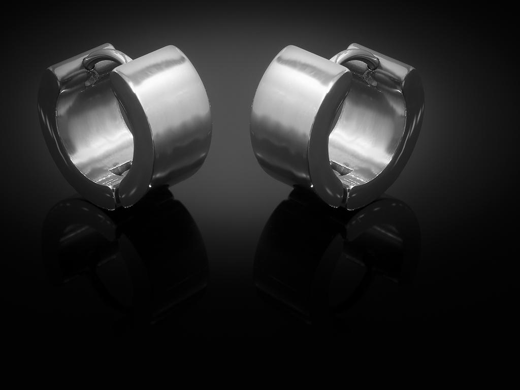Náušnice hladké kroužky bez zdobení - Chirurgická ocel + Doprava zdarma + Dárkové balení zdarma