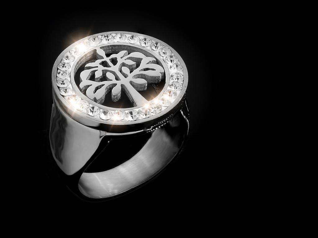 Dámský prsten Strom života - Chirurgická ocel se zirkony + Doprava zdarma + Dárkové balení zdarma Velikost prstenu: 51