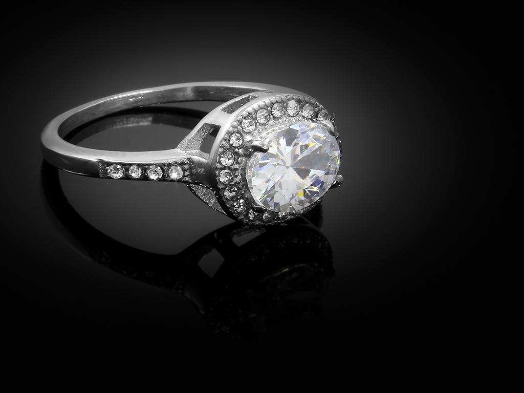 Dámský jemný prsten - Chirurgická ocel se zirkony + Doprava zdarma + Dárkové balení zdarma Velikost prstenu: 56