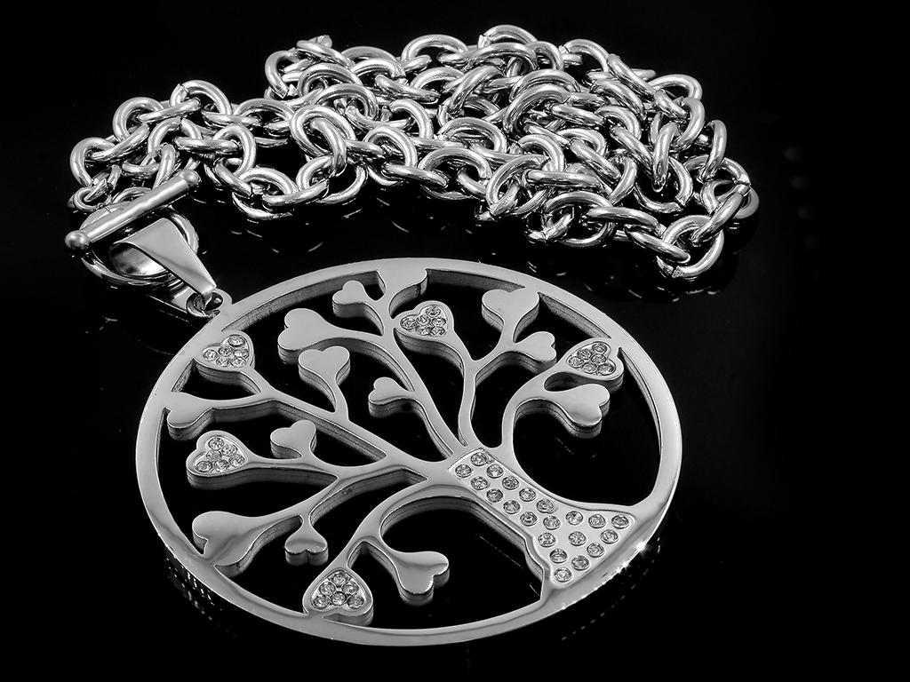 69883cd91 Náhrdelník se symbolem stromu života - Chirurgická ocel se zirkony +  Doprava zdarma + Dárkové balení