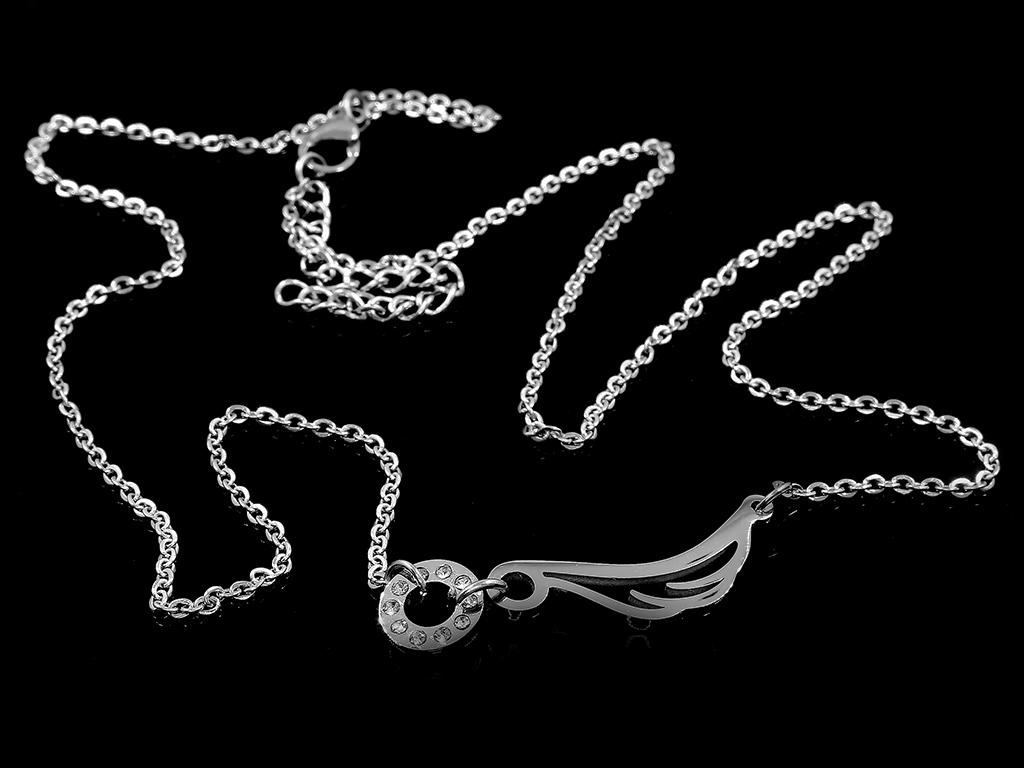 1044bcffb Jemný náhrdelník se symbolem křídla - Chirurgická ocel se zirkony + Doprava  zdarma + Dárkové balení