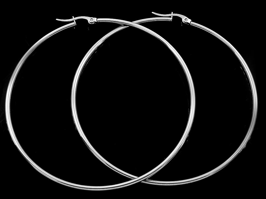 Náušnice klasické kruhy 7 cm chirurgická ocel + Doprava ZDARMA