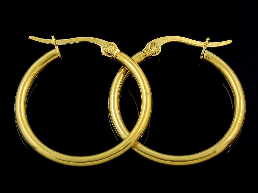 Náušnice klasické kruhy 2,5 cm chirurgická ocel + Doprava ZDARMA
