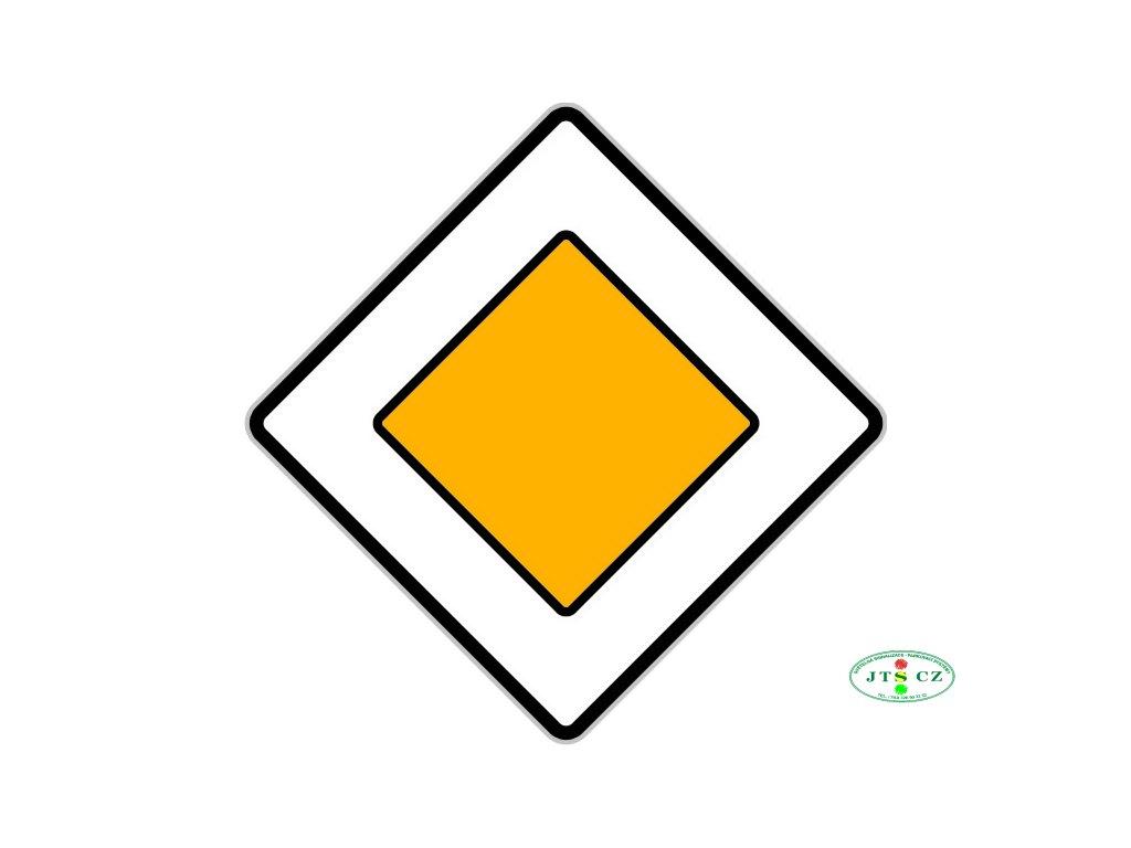 Dopravní Značka P2 Hlavní pozemní komunikace