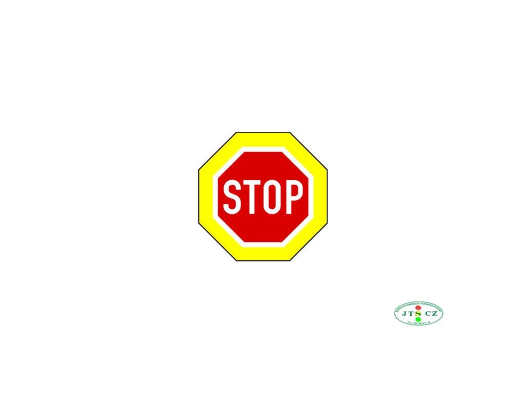 Dopravní Značka P6 zvýrazněná Stůj, dej přednost v jízdě