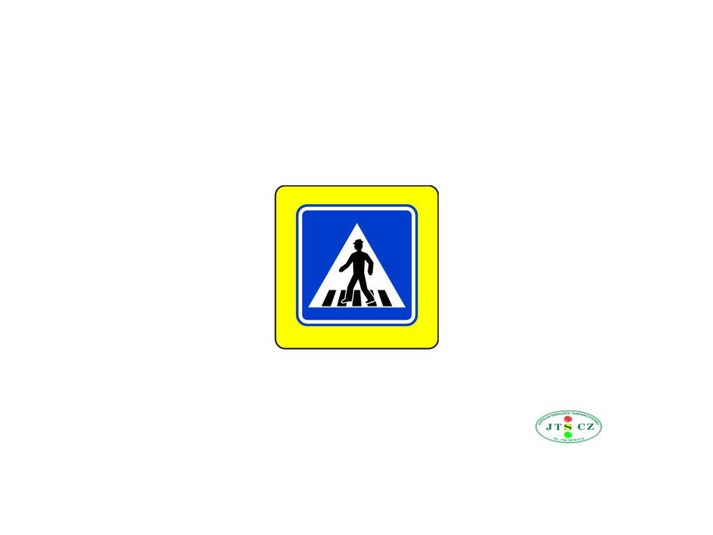 Dopravní Značka IP6 zvýrazněná Přechod pro chodce