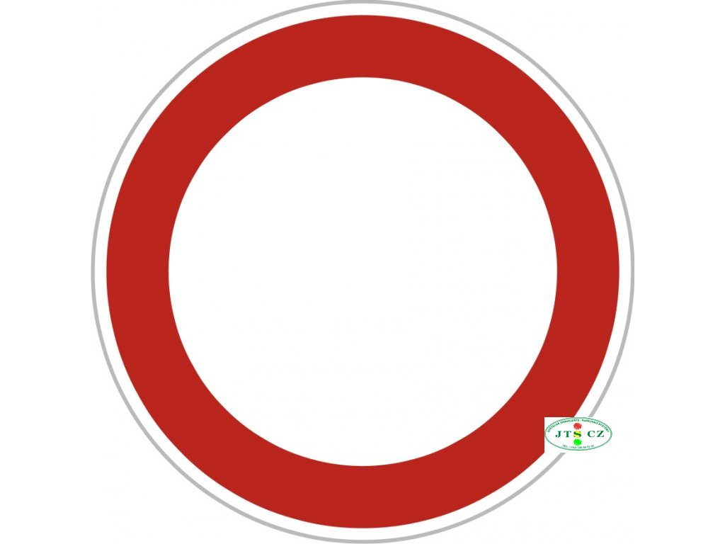 Dopravní Značka B1 - 2.třída Zákaz vjezdu všech vozidel