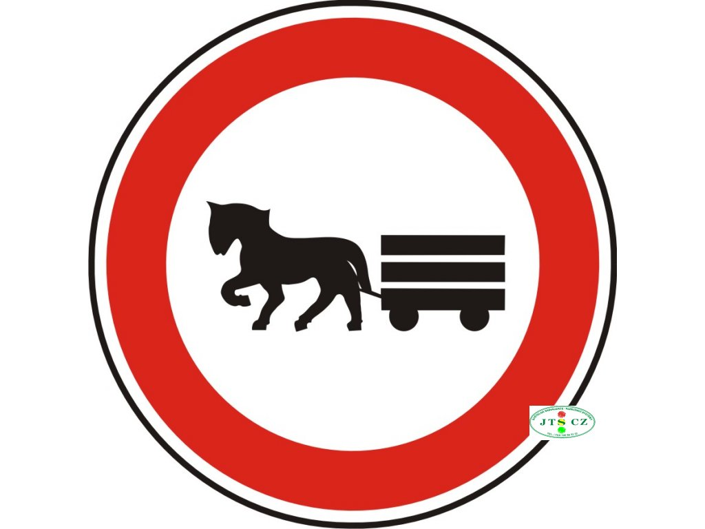 Dopravní Značka B9 Zákaz vjezdu potahových vozidel