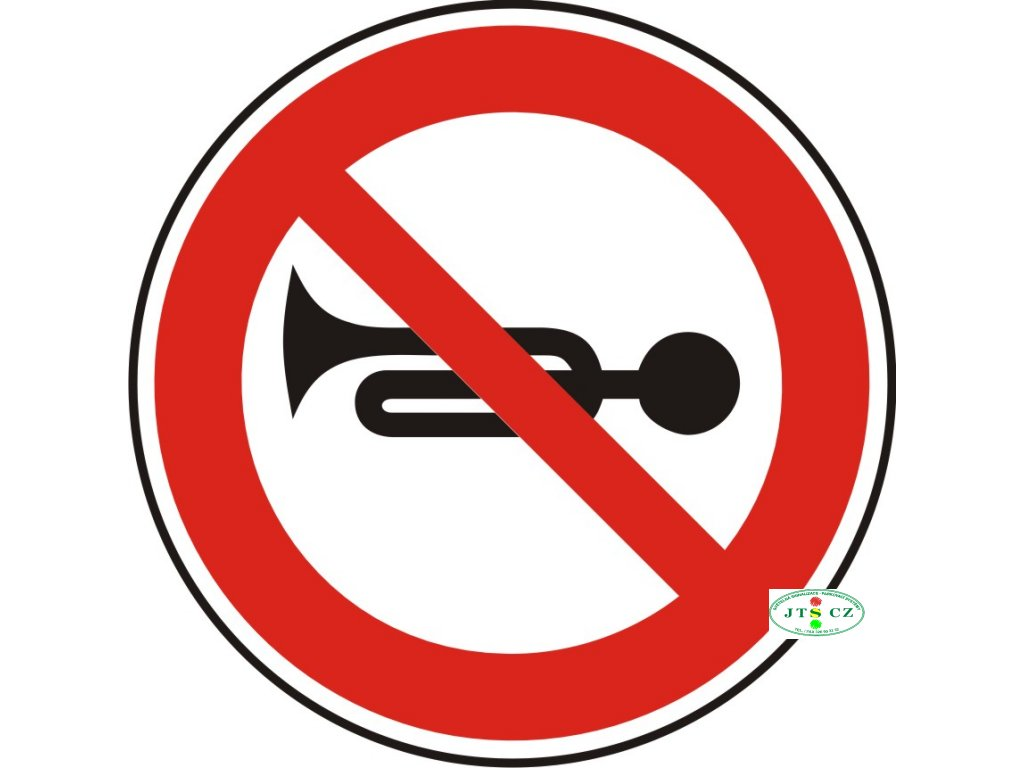 Dopravní Značka B23a Zákaz zvukových výstražných znamení