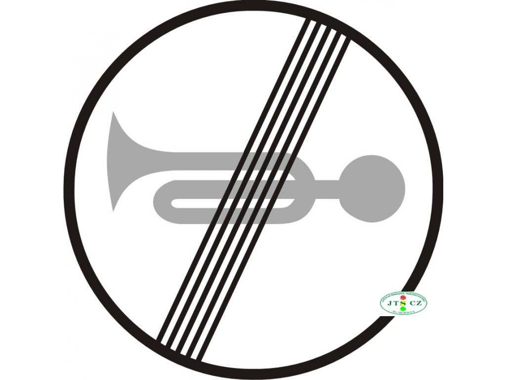 Dopravní Značka B23b 500 mm Konec zákazu zvukových výstražných znamení