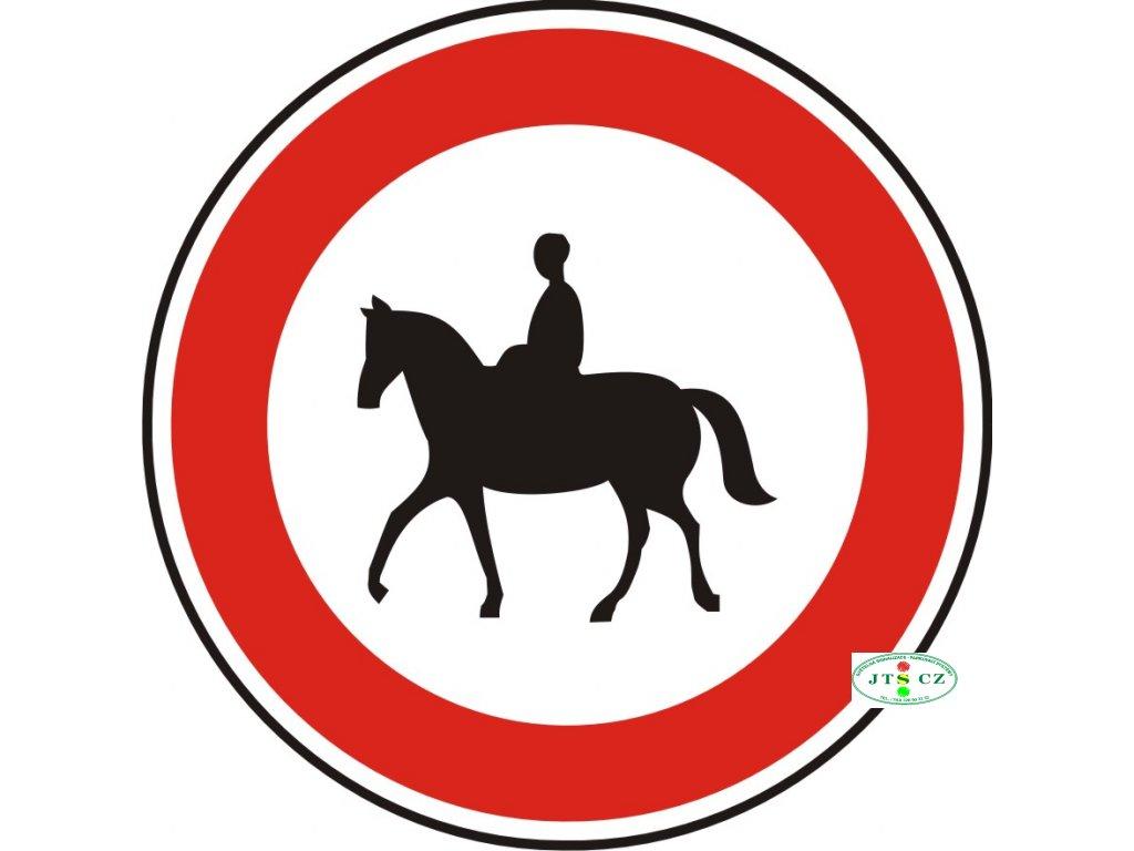 Dopravní Značka B31 Zákaz vjezdu pro jezdce na zvířeti