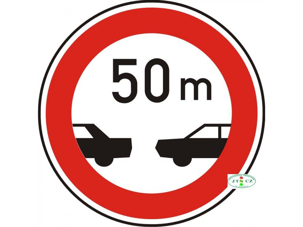 Dopravní Značka B34 Nejmenší vzdálenost mezi vozidly
