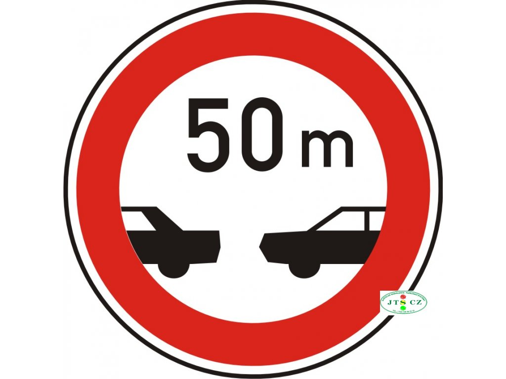 Dopravní Značka B34 500 mm Nejmenší vzdálenost mezi vozidly