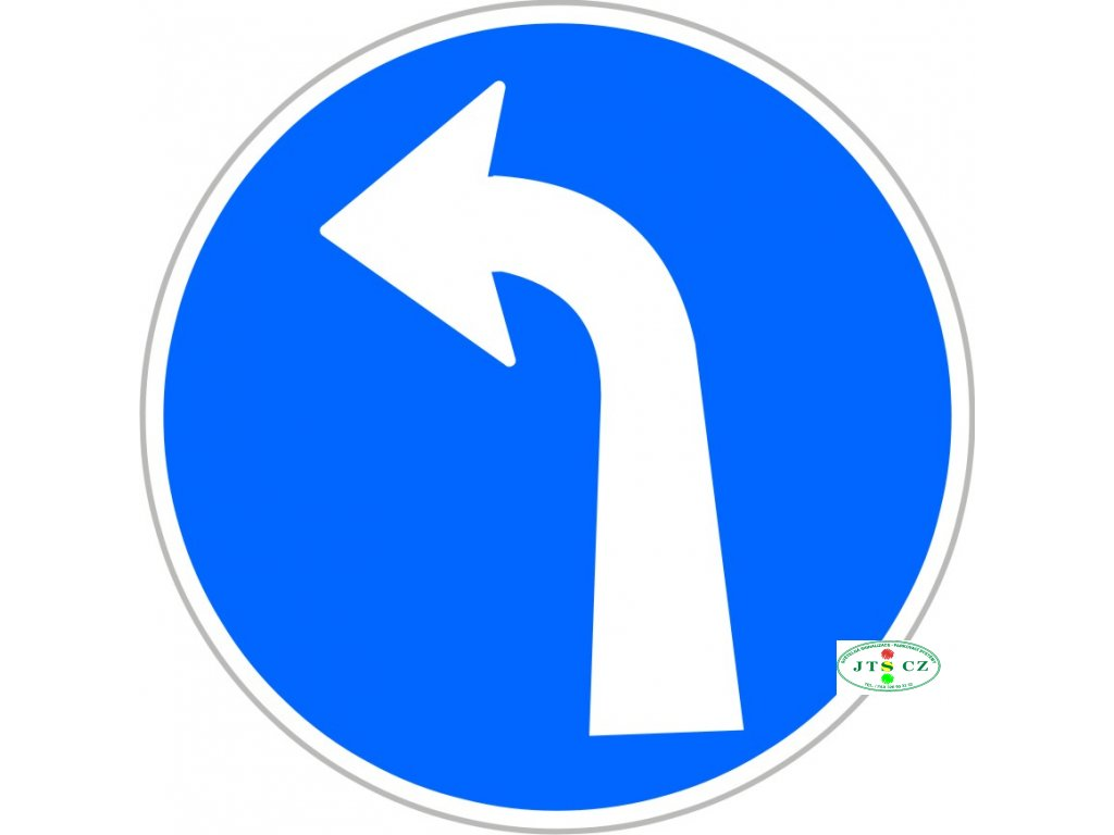 Dopravní Značka C2c 500 mm Přikázaný směr jízdy vlevo