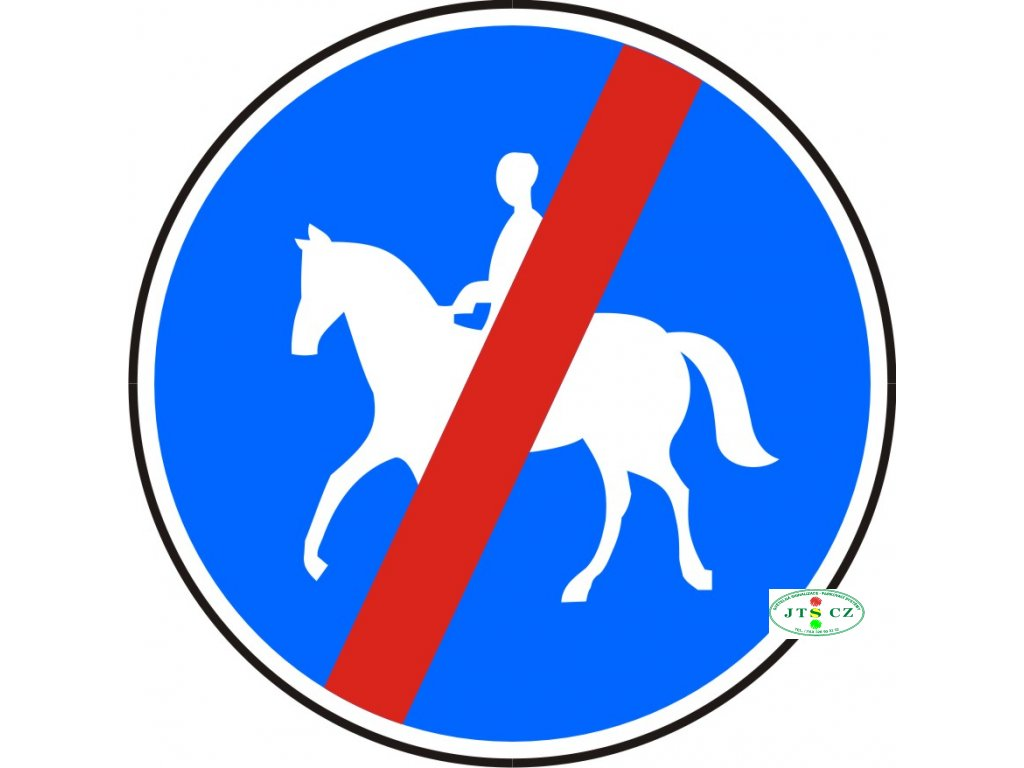 Dopravní Značka C11b Konec stezky pro jezdce na zvířeti