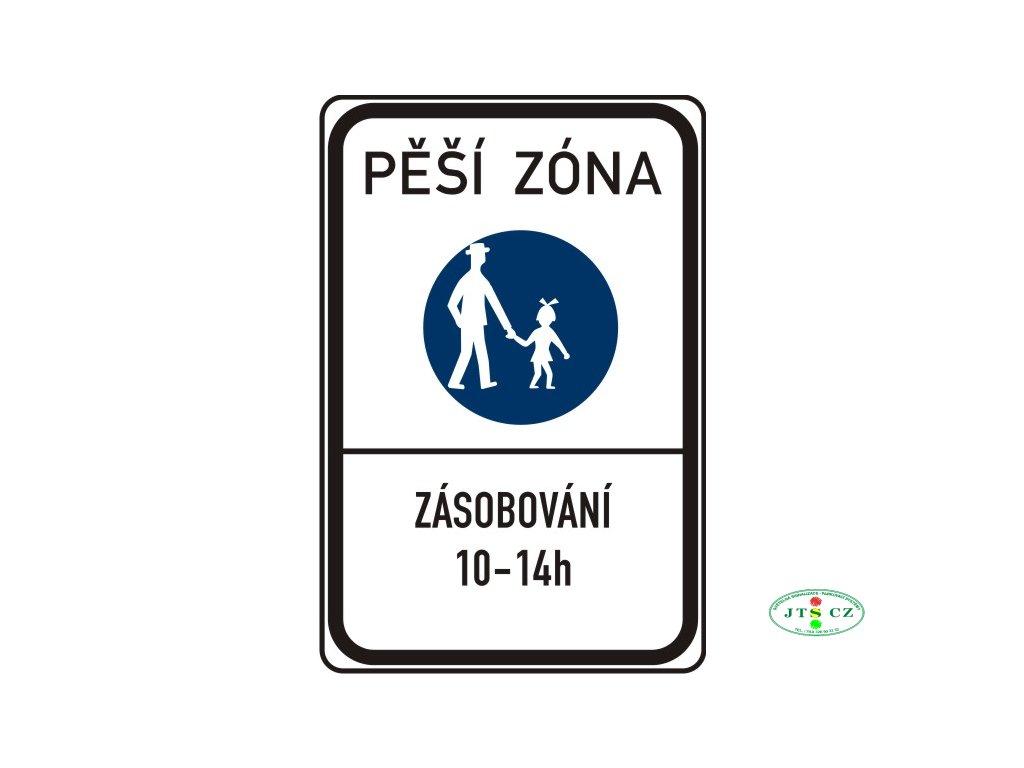 Dopravní značka IZ6a Pěší zóna IP27a