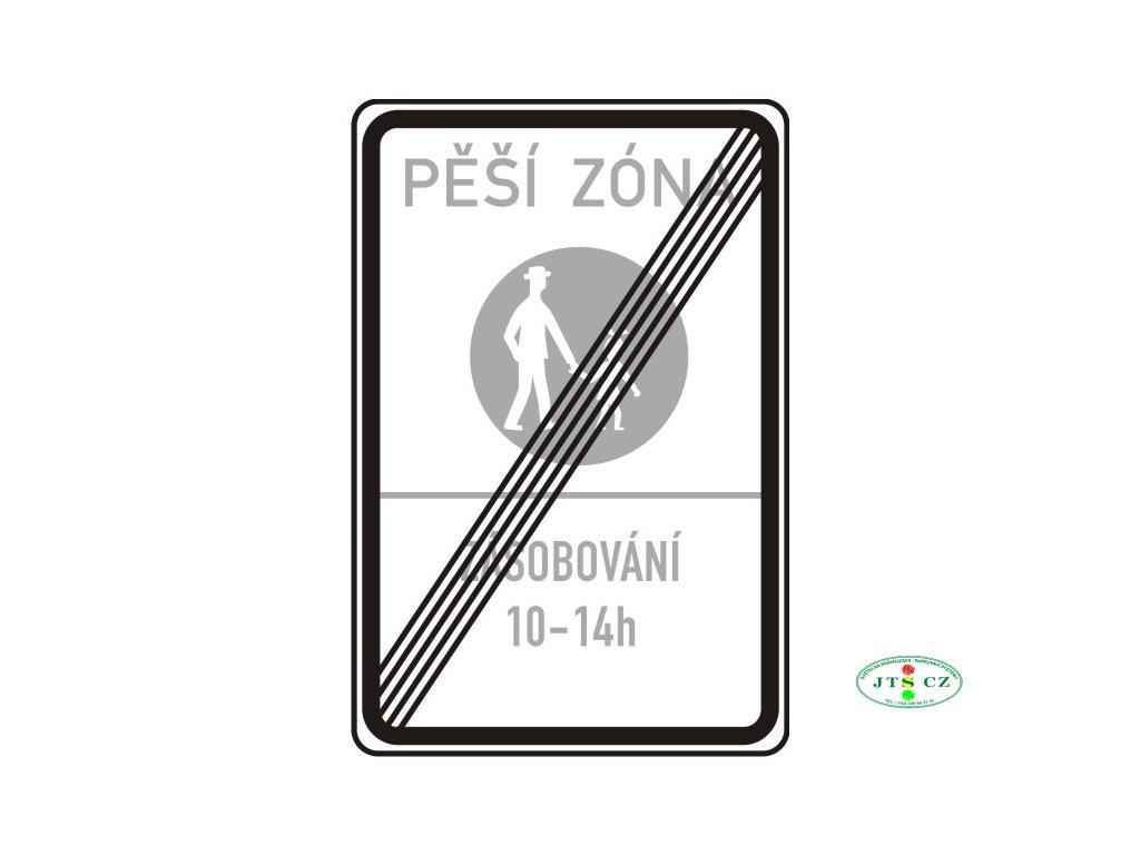Dopravní značka IZ6b Konec pěší zóny IP27b