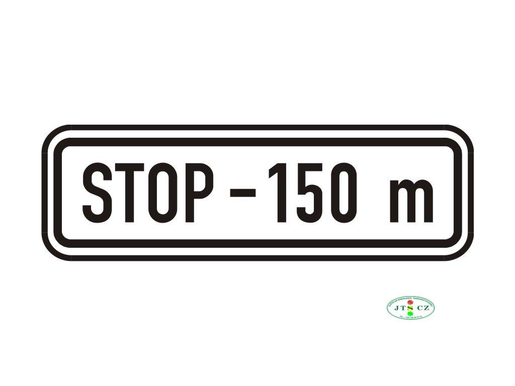 Dopravní Značka E3b Vzdálenost
