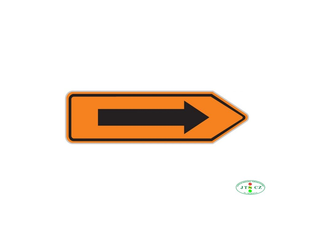 Dopravní značka IS11c Směrová tabule pro vyznačení objížďky