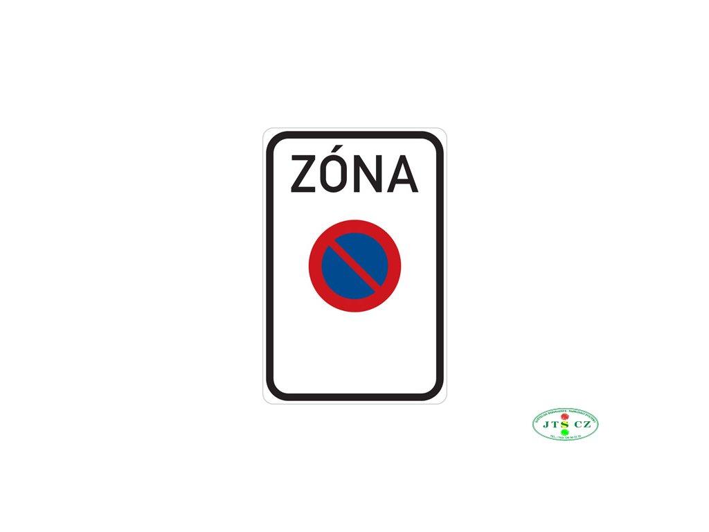 Dopravní značka IZ8a Zóna s dopravním omezením (IP25a)
