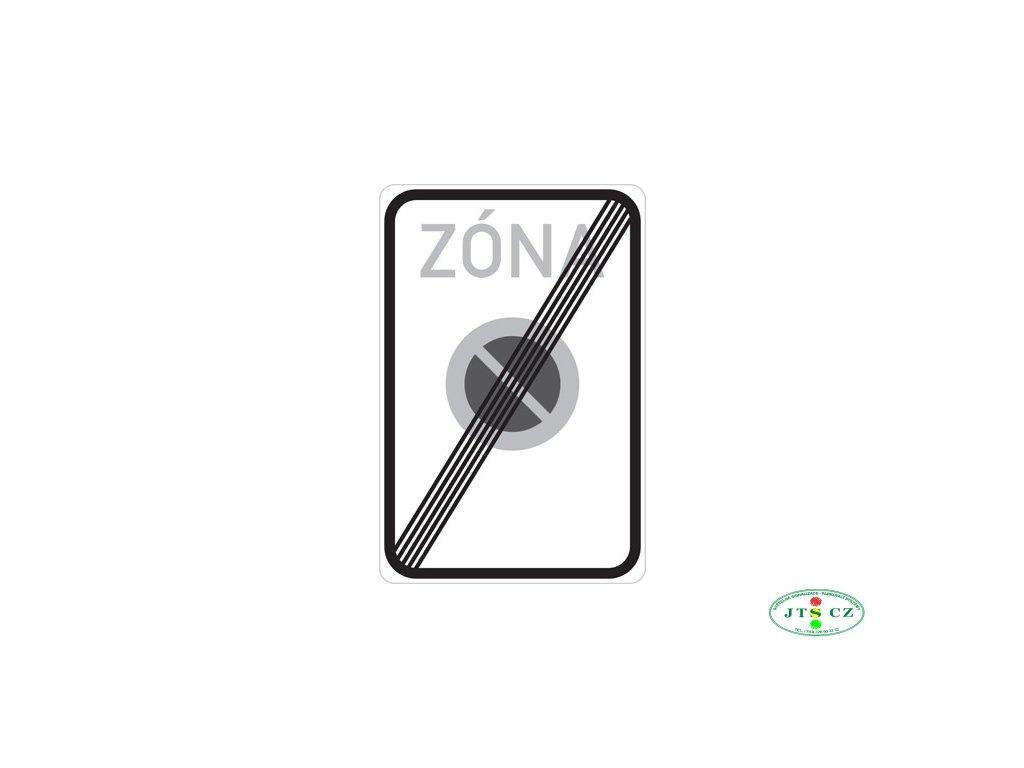 Dopravní značka IZ8b Konec zóny s dopravním omezením (IP25b)