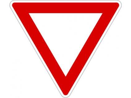Dopravní Značka P4 velká 2.třída Dej přednost v jízdě