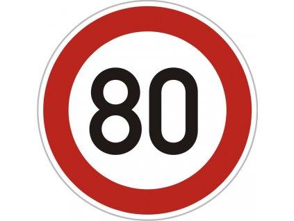 Dopravní Značka B20a 500 mm Nejvyšší dovolená rychlost