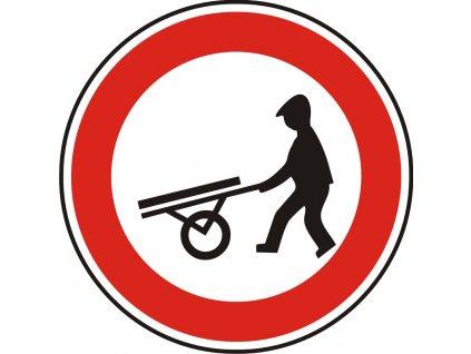 Dopravní Značka B10 500 mm Zákaz vjezdu ručních vozíků