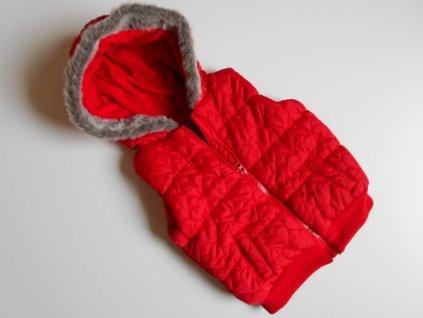 Dívčí vesta s kapucí podšitá flisem-F&F... VEL-98