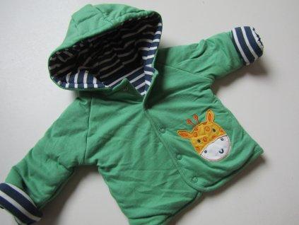 Chlapecký oteplený kabátek-oboustranný- NOVÝ... VEL-62-68