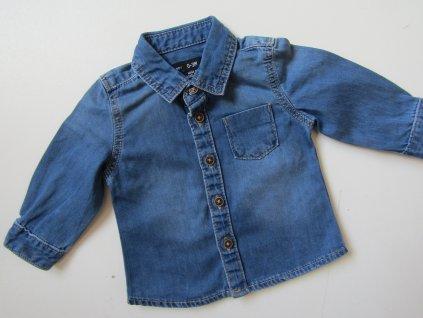 Chlapecká džínová košile- BABY BOY... VEL-56-62