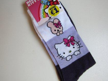 Dívčí ponožky- HELLO KITTY.-NOVÉ... VEL-35-40