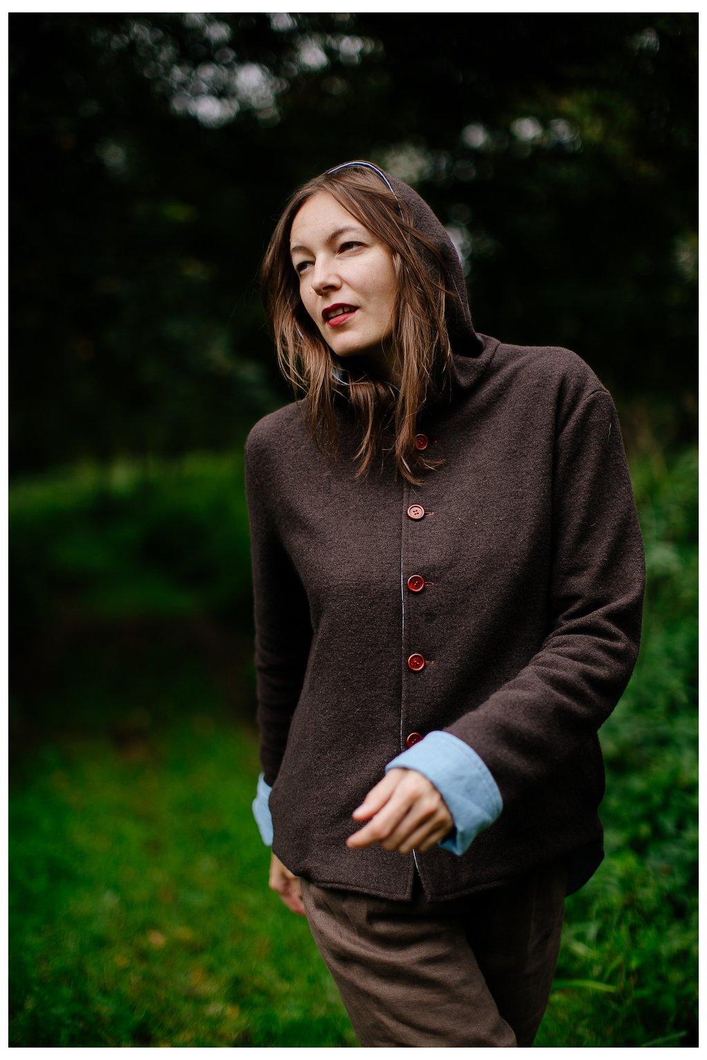 Obojstranný vlneno-ľanový kabátik pre ženy  (VIAC FARIEB)