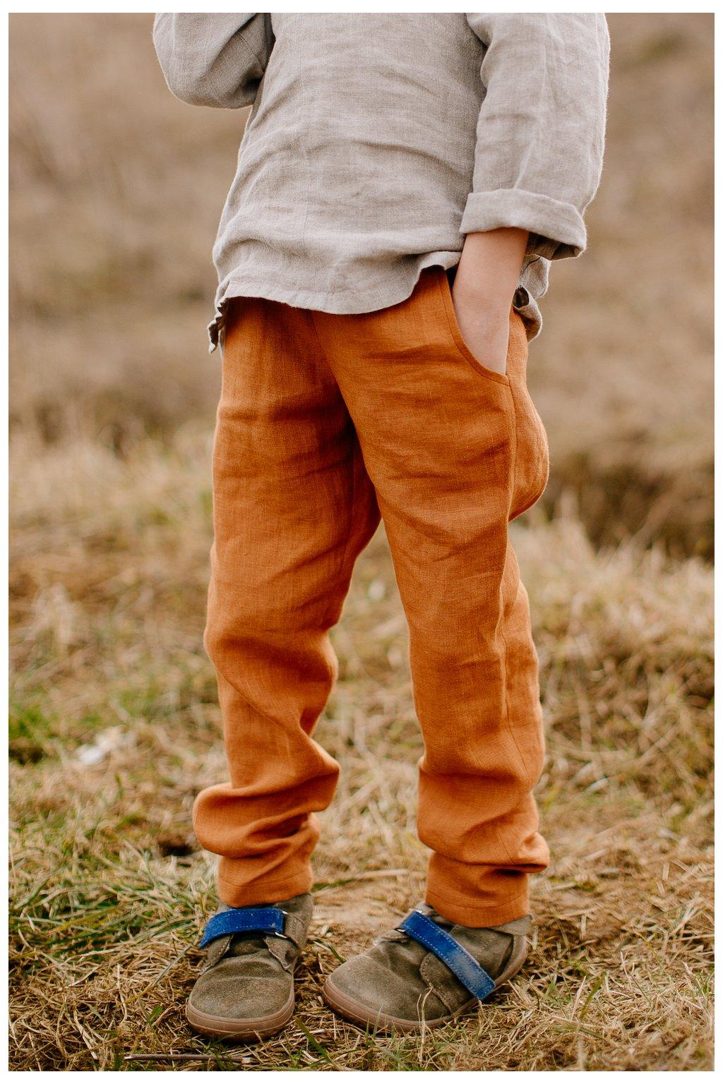 Detské ľanové nohavice (VIAC FARIEB)