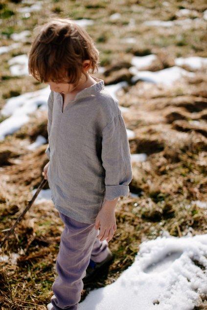 Detská ľanová košeľa