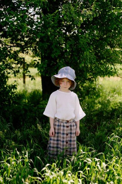 Dievčenská rastúca ľanová sukňa (VIAC FARIEB)