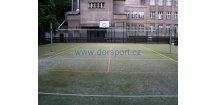 Volejbalové sloupky DOR-SPORT do pouzder 102 mm, venkovní+pouzdra, víčka