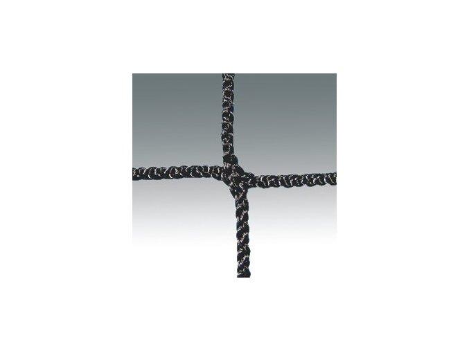 Síť na nohejbal 3 mm, ocelové lanko, černá