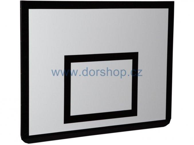 Basketbalová deska DOR-SPORT 1800x1050 mm, venkovní, ocelový rámek, překližka